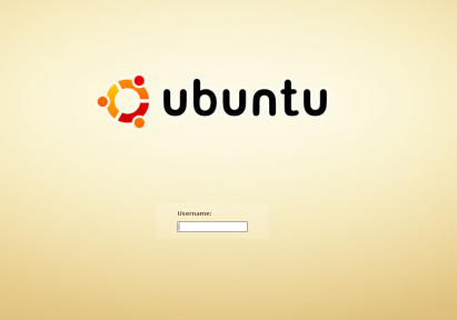 Ubuntu login screen (sample)